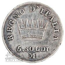 Italie / Napoléon / 5 Soldi 1810 M / Argent / TTB