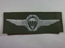 Bundeswehr Fallschirmspringerabzeichen BW silber auf oliv umnäht TTA FAL