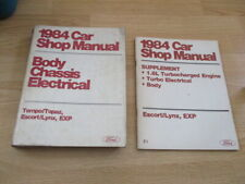 1984 Ford Tempo Topaz Escort Lynx Exp Body Chassis Electrical 1.6L Shop Manuals(Fits: Lynx)