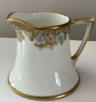 Antique Nippon Moriage And Hand Painted Roses Creamer Pitcher