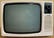 "Ferguson Vintage Portable TV . 14"" B&W . Model 3871 . Boxed . Working . Prop"