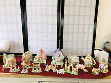 25 Piece Easter Bunny Village