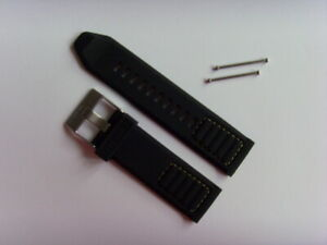 Diesel Original Spare Band Silicone DZ7411 Watch Black Yellow Strap 24mm