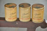 3 Pc Vintage Pears Baby Powder Ad Litho Tin Boxes , England