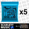 5x Ernie Ball Extra Slinky 2225 8-38 Electric Guitar Strings *SET OF 5 PACKS*