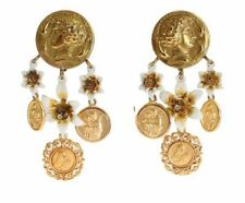 Dolce&Gabbana Brass Costume Earrings
