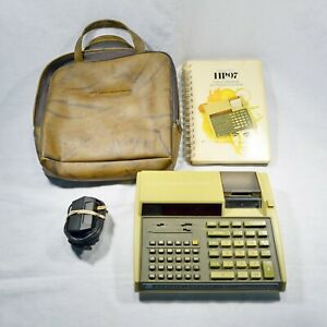 Vintage Hewlett-Packard HP 97 Programmable Calculator With Case Manual Adapter