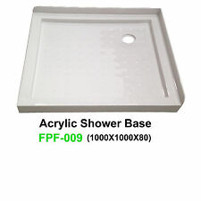 NEW Acrylic Shower Base SANYC FPF-009 1000*1000*80 2 Lip Tile Flange Acrylic