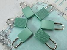 (6 Pcs) Mini cadenas Matt couleur verte Petit Minuscule Serrure de Coffre avec Clés-Neuf