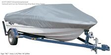Schutzhaube in grau Boot Persenning Boote Sportboote Plane Abdeckung Schutzplane