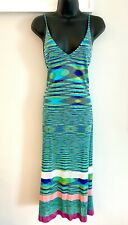 MISSONI Mare Sleeveless Deep V Midi Dress, Swim Coverup Size Small