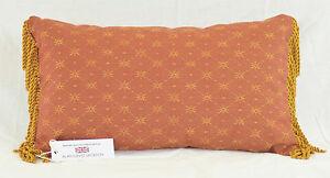 """Handmade Linwood Blissford Cotta Rectangular Cushion 18.5"""" x 10.5""""  Fringe"""