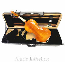 New 4/4 Hand-Made One Piece Flamed Back Violin+Bow+Rosin+Square Case+String #A04