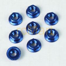 3Racing 4mm Aluminum Locknut Serrated Blue TT01 TT02 M07 T3-01 #3RAC-NS40/BU