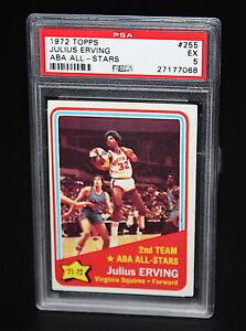 1972 Topps Julius Erving ABA  ALL-STAR #255 PSA 5