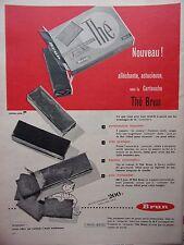 page de publicité    BISCUITS  THE    BRUN en 1957  ref. 41760