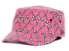 New Era Jeremy Scott Bones Argyle Military Hat Cap PINK RARE! size Medium