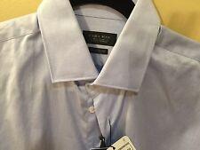 ZARA MAN Tailored Fit Blue Button Down Shirt Men's 15 Was $59.90 NWT