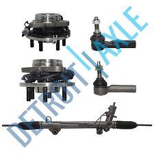Power Steering Rack and Pinion + 2 Wheel Hub Bearing w/ ABS + 2 Tie Rod; 4X4