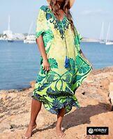 Copricostume Vestito Lungo Donna Mare Caftano Woman Boho Chic Maxi Dress COV0183