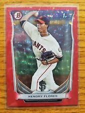 Kendry Flores (Giants) 2014 Bowman Prospects RED ICE (only 25 made) 25/25 LAST