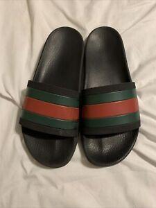 gucci stripe rubber slide sandal price
