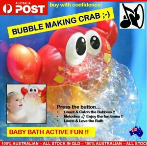 Baby Bath Toy Kids Bubble Crab Automatic Baby Bath Time Fun Baby Toys Music Toy