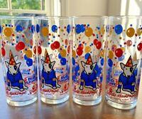 "Spuds MacKenzie Bud Light Vintage 1987 Original Party Animal 6"" tall glass Libbe"