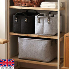 Foldable Storage Foldable Folding Box Home Clothes Organizer Fabric Cube UK