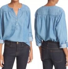 Soft By Joie Size Medium Marleen Chambray Top