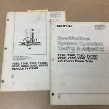 Cat Caterpillar Vt25d 30 35 40d Service Shop Repair Manual Fork Lift Truck Book