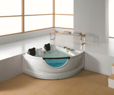 2 Person Corner Hydrotherapy Whirlpool Bathtub Spa Massage Therapy Hot Tub Heat