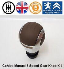 Peugeot 1007 206 207 301 307 308 407 Gear Knob Stick Manual 5 Speed Brown Cohiba