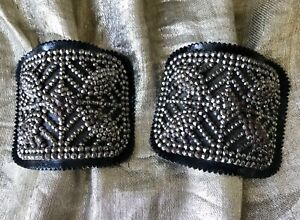 Cut steel shoe buckles France VG condition large MB