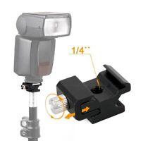 "Camera Flash Hot Shoe Bracket Mount Adapter 1/4"" for Speedight Tripod"