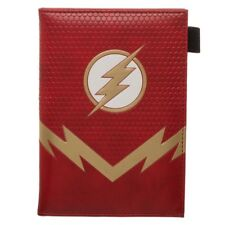 DC COMICS THE FLASH LIGHTNING BOLT LOGO PASSPORT BOOKLET TRAVEL WALLET COVER NWT