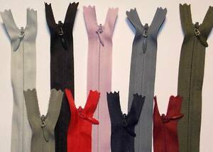 """INVISIBLE/CONCEALED ZIP WOVEN  6,8,10,12,14,16,18,20""""/ 15,20,25,30,35,40,45,50CM"""