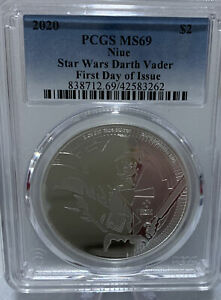 2020 Niue Star Wars Darth Vader PCGS MS69 First Day Of Issue 42583262
