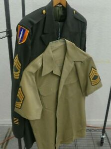 Vintage Vietnam-Era Army Class A Master Sergeant in the Signal Corps Uniform