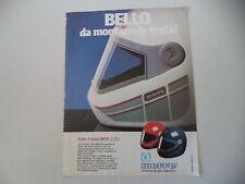 advertising Pubblicità 1984 CASCO HELMET BIEFFE B 84