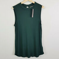 [ SUSSAN ] Womens Green Sleeveless Top NEW + TAGS | Size L or AU 14 / US 10