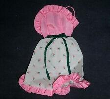 Vintage Barbie doll clothes: M.F.B? rosebud dress, pink trim