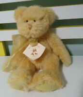 TEDDY AND FRIENDS SABRINA TEDDY BEAR 28CM YELLOW WITH YELLOW BOW