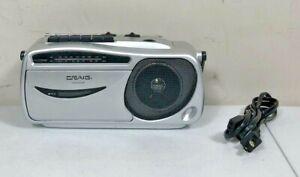 Coby Mono Boom Box Portable Cassette Player Recorder