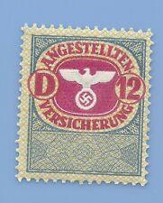Germany Nazi Third Reich Swastika Eagle Revenue D 12 Stamp MNH WW2 ERA  #35
