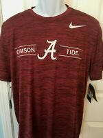 Alabama Crimson Tide Mens Nike DRI-FIT Velocity T-Shirt - XXL/XL/Large - NWT