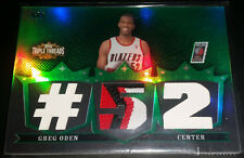 Greg Oden 2007-08 Topps Triple Threads TRIPLE RELICS EMERALD Patch RC (#'d 4/5)