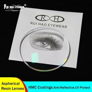 Index1.67 Optical Resin Lenses Glasses Aspherical Clear Myopia Near Vision CR39