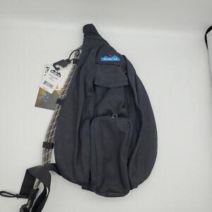 KAVU Rope Tweed Bag Kids Girls Womens Crossbody Cotton Backpack Black