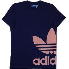 Adidas Originals AC Gráfico Trefoil tee Hombre Logo Camiseta Azul Marino S M L